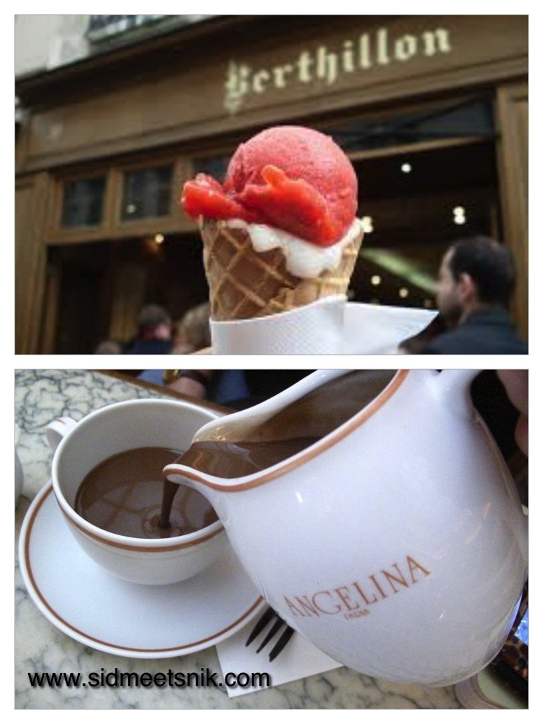 5 must have foods in Paris, Angelina,hot chocolate,berthillon