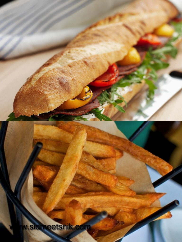 5 must have foods in Paris, Baguetter bread sandwich,french fries